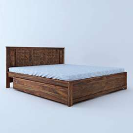 Premium branded sheesham wood bed with drawers
