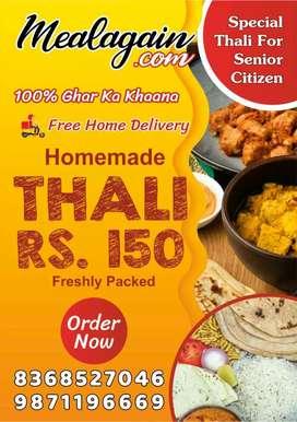 Homemade Food Freshly packed Veg Thali Lunch & Dinner Tiffin Service
