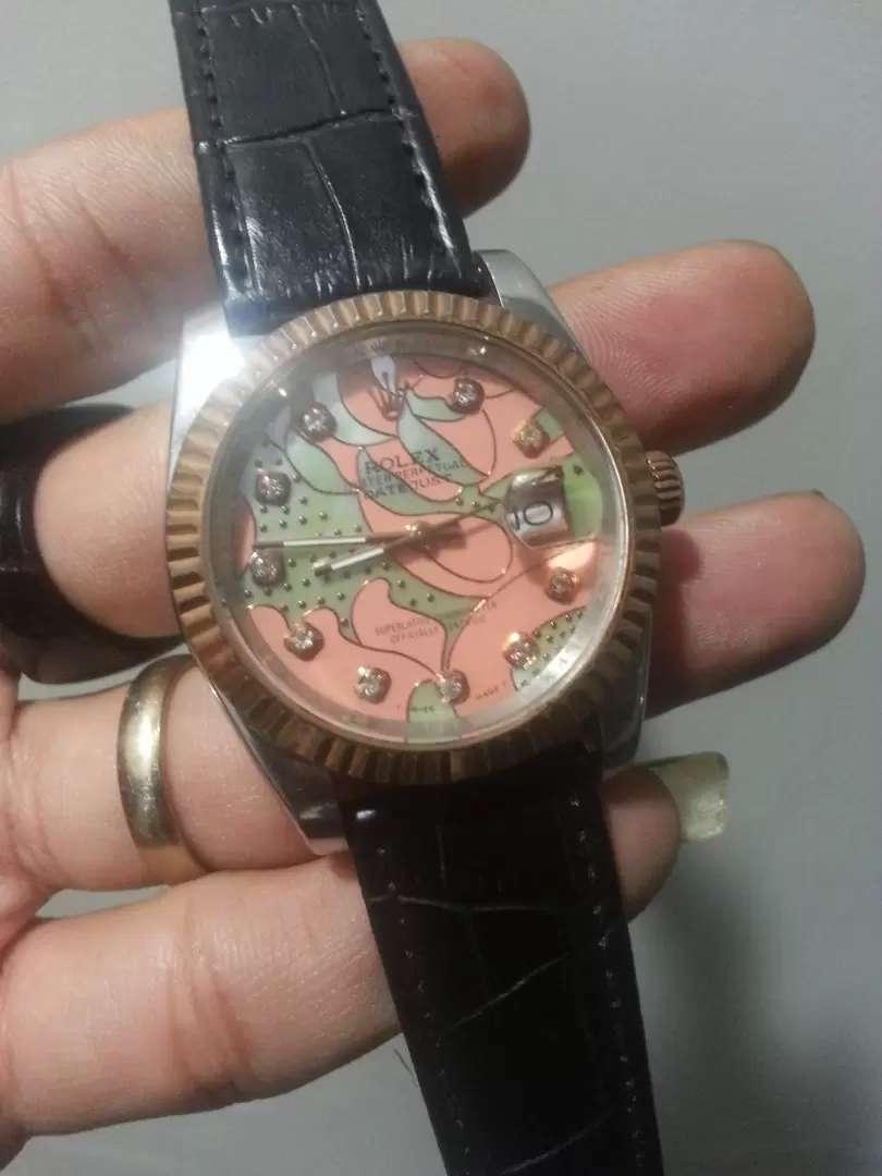 Rolex datejust ring dan crown rosegold dial unix 0