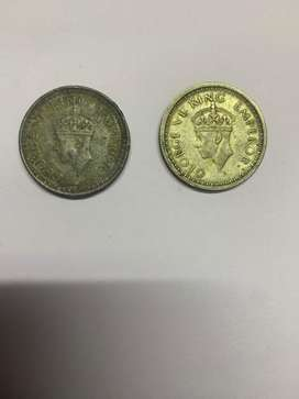 One Rupee Old Coin 1942~1945