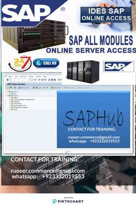 Sap Ides server access and sap fico PP sap sales modules training