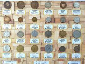 550 Rs 24 Coins Set . Beautiful set of British and Republic INDIA.