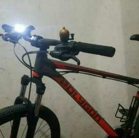 Paket Lampu Sepeda Depan Belakang Rechargerable LED