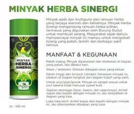 Minyak Herba Sinergi (butbut)