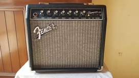 Fender Electric Guitar and Fender Champion 20 Amp
