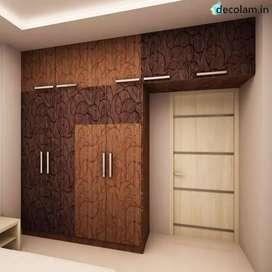 We do work of Modular kitchen, TV. panel,