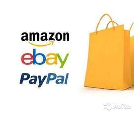 Ebay, Amazon Selling & Listing, Store Design, Inventory MGT Paypal Acc
