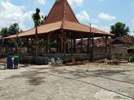 Jual Pendopo & Rumah JOGLO (Bahan kayu jati) ukir tumpangsari soko 20