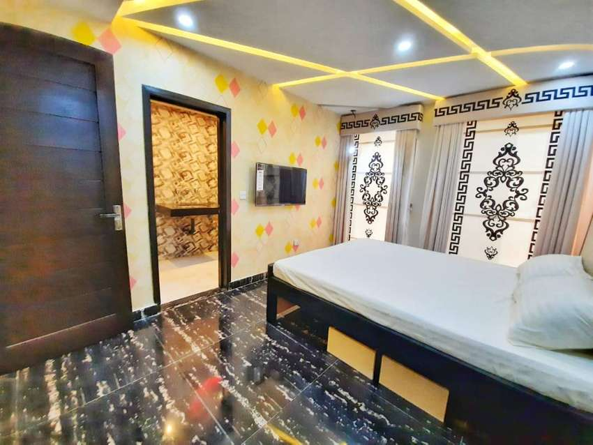 Fully furnished One Bedroom Vip furnished flat For rent in sector D 0