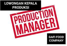 Lowongan Supervisor Kepala Produksi Production Manager Teknisi Leader