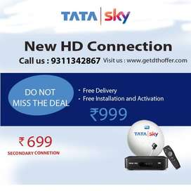 DTH HD Connection Tv Tata sky offer @999/-