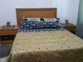 Pure shipwood queen bed set with mattress. Urgent sale