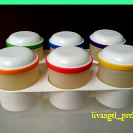 Silicone baby foods container trays