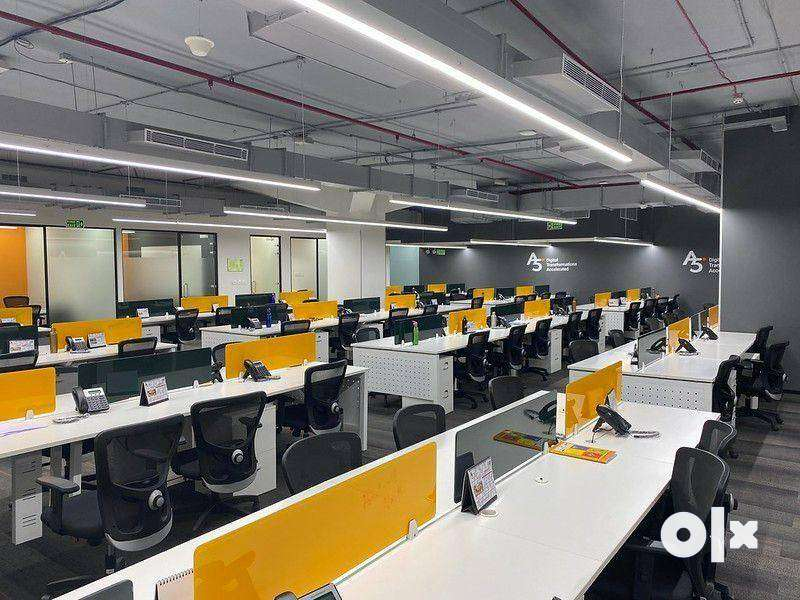 Plug N play 50-200 seater 4 cabin furnished office at Prime Location 0