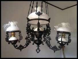 Lampu gantung antik betawi model katrol OVJ hias dekorasi jawa repro