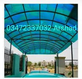 FIBER GLASS SUNSHADES,GREEN NET&BLUE NET SUNSHADES&IRON WORKS.