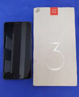 One plus 3t 64gb in good condition with box and data cable