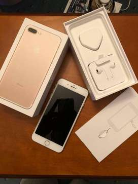 Iphone 7plus Gold 128gb. Fresh Mint Condition. With full box.