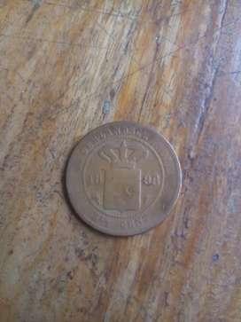 Uang koin Nederlandsch Indie 2.5 cent tahun 1898