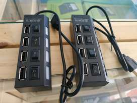 USB4 port 2 Splitter with switch HUB 4-hole Independent switch