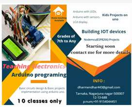 Teaching of electronics projects for kids from basics