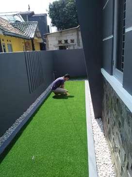 Rumput Sintetis sbgai Taman Lantai dalam Rumah
