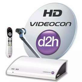 Combo videocon set top box and its umberlla with bpl tv and remotes