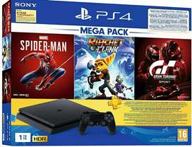 Sony PlayStation 4 With Spiderman, Ratchet and Clank, Gran Turismo