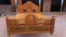 Family size Teak wooden cot... Cash on delivery