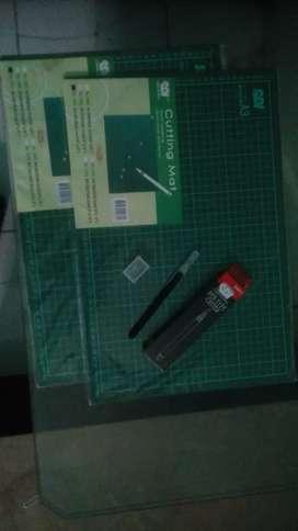 Cutting mat sdi A3 dan cutting pen sdi