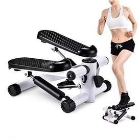 Gudang alat fitness /hitam stepper with tali ropper baru