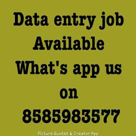 data typing work available for home based job