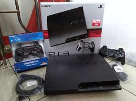 PS3 Slim paling populer hdd 500GB full 100 game 2 Stik lkp Asik bosku