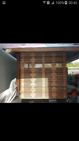 Jual tirai bambu,rotan,tirai motif