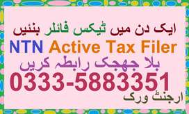 FBR Income Tax NTN Returns Filer - Urgent Work - Very Rasonable Fee