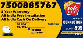 Tata Sky DTH Connection- Dish Tatasky D2H TV-COD India