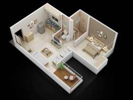 26.50 lakh,1bhk flat in marunji, Hinjewadi