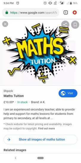 Any student who requires Maths subject private Tuition (class 7-10)