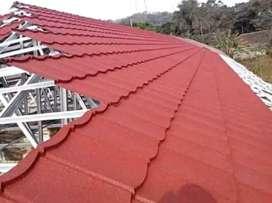Baja ringan renovasi rumah bongkar atap lama pasang baja ringan