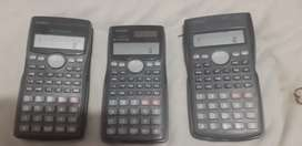 Calculators Casio fx-100ms, Casio fx-991ms and Casio fx-82ms available