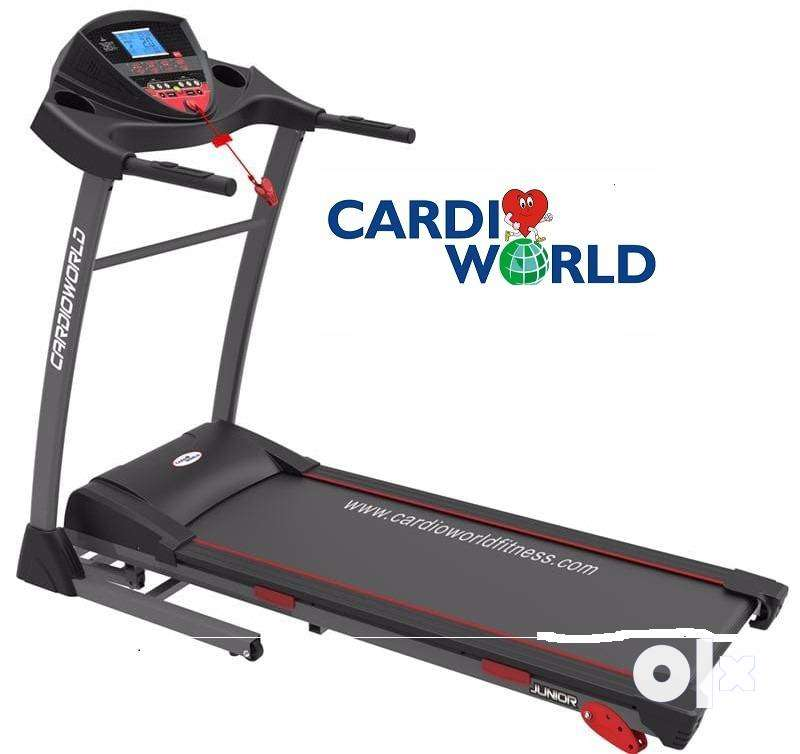 "flat 50% off CARDIO WORLD TREADMILL CW JUNIOR""@ RS 34500 0"