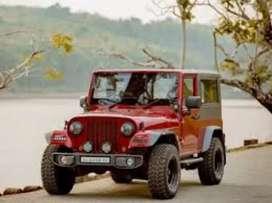 Full modified Thar power steering power brake all India Transport