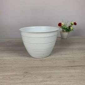 Pot Bunga Madu Lebah Putih 25 cm.