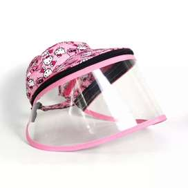 Topi Face Shield Face Mask Anak Hello Kitty