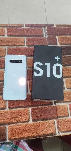Samsung s10 plus prism white colour,8 gb ram 128 gb rom