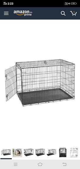 Unused dog cage
