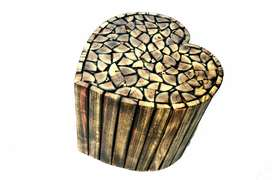Super burning heart shape stool