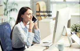fresher Receptionist required