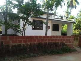 2BHK HOUSE FOR SALE, 18 cents, Nr. Trikannad Temple, Kasaragod Dist