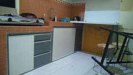 kitchen set cabin bawah DAP meja makan kursi lemari